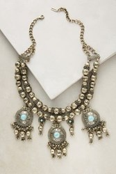 Anthropologie Byzantine Bib Necklace Turquoise