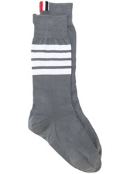 Thom Browne Lightweight Cotton Socks Grey