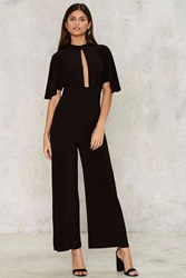 Keyhole New World Jumpsuit Black
