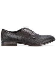 Moma Textured Lace Up Shoes Brown