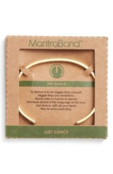 Mantraband Women's Just Dance Engraved Cuff Gold
