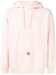 Axel Arigato Embroidered Hoodie Pink And Purple