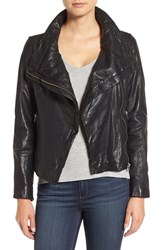 Lamarque Women's Funnel Neck Moto Jacket