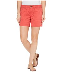 Jag Jeans Petite Somerset Relaxed Fit Shorts In Bay Twill Coral Spice Women's Shorts Orange
