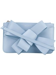 Delpozo Bow Shoulder Bag Blue