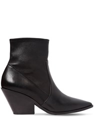 Casadei 60Mm West Stretch Leather Cowboy Boots Black