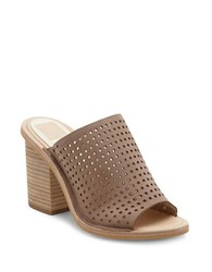 Dolce Vita Wales Leather Mules Light Taupe