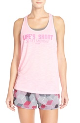 Lorna Jane 'Live Life' Racerback Tank Hollywood Pink