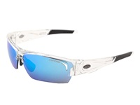 Tifosi Optics Lore Mirrored Golf Interchangeable Crystal Clear Clarion Blue Gt Ec Lens Athletic Performance Sport Sunglasses White