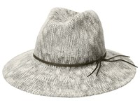 Collection Xiix Two Tone Slubby Knit Packable Panama Hat Cottage Cream Knit Hats Gray
