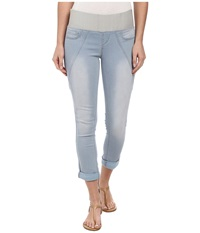 Dkny Sculpted Leggings Rolled Crop In Toned Wash Toned Wash Women's Casual Pants Blue