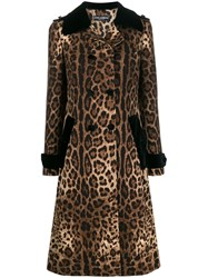 Dolce And Gabbana Leopard Print Trench Coat 60