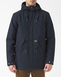 Carhartt Navy Blue Bedford Clash Fishtail Parka