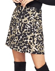 Miss Selfridge Camo Print Skirt Multicolor