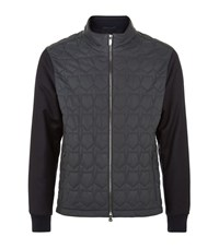 Z Zegna Quilted Leather Bomber Jacket Male