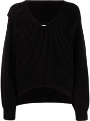 Alexander Wang T By Ribbed Knitted Jumper Black