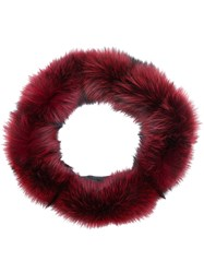 Eleventy Soft Fur Snood Red