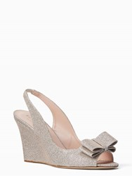 Kate Spade Irene Wedges Silver Natural
