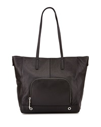 Milly Astor Pebbled Leather Tote Bag Black