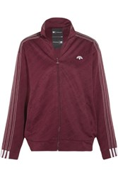 Adidas Originals By Alexander Wang Embroidered Stretch Jacquard Jacket Merlot
