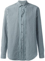 Maison Martin Margiela Slim Fit Gingham Check Shirt Blue