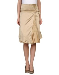 Koo J Knee Length Skirts Sand