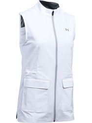 Under Armour Storm Windstrike Full Zip Vest White