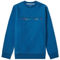 Know Wave Multi Logo Crew Sweat Blue