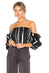 Bardot Caught Sleeve Bustier Black