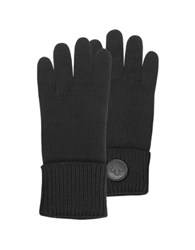 Dsquared Cable Knit Wool Men's Gloves Black