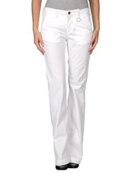 Siviglia White Trousers Casual Trousers Women