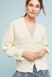 Anthropologie Salto Textured Cardigan Ivory