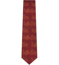 Thomas Pink Lions Bennetti Silk Tie Red Yellow