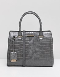 Carvela Holly Croc Zip Tote Bag Grey
