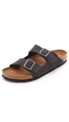 Birkenstock Soft Arizona Sandals Velvet Gray