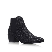 Miss Kg Spider Low Heel Ankle Boots Black