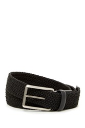 Original Penguin Woven Elastic Leather Belt Black