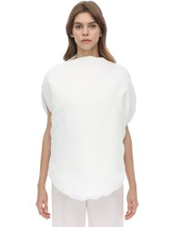 Maison Martin Margiela Round Padded Techno Top White