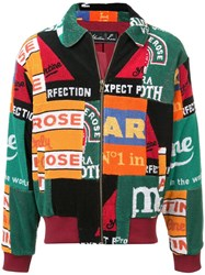 Martine Rose Patchwork Fleece Jacket Green