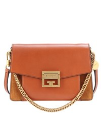 Givenchy Small Gv3 Leather Shoulder Bag Brown