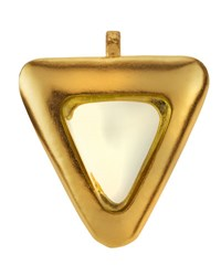 Stephanie Kantis Crush Crystal Triangle Pendant Green