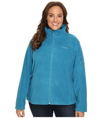 Columbia Plus Size Fast Trek Ii Full Zip Fleece Jacket Deep Marine Women's Coat Blue