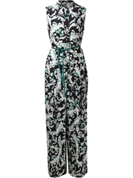 Tome Baroque Print Jumpsuit Black