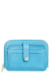 Hobo Women's 'Katya' Leather Wallet Blue Capri