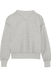 Etoile Isabel Marant Bailee Cotton Blend Sweatshirt Gray