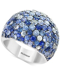 Effy Splash By Multicolor Sapphire Statement Ring 5 3 4 Ct. T.W. In Sterling Silver