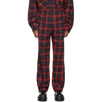 Wonders Red And Black Plaid Service Trousers
