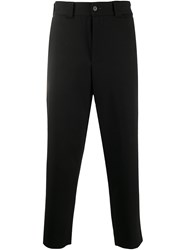 Harris Wharf London Cropped Tapered Trousers Black