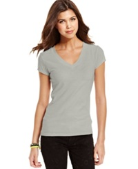 Energie Juniors' Short Sleeve V Neck Tee New Heather Grey