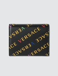 Versace All Over Logo Small Wallet Black